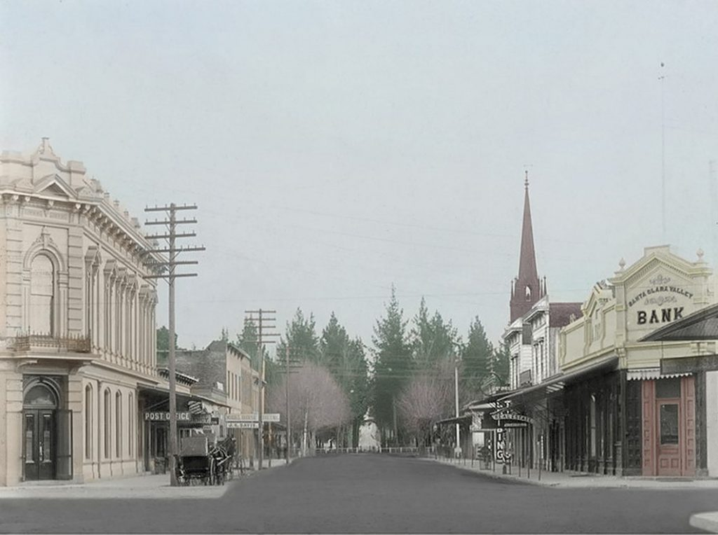 Main and Franklin Streets 1890